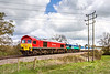 30th Apr 2016:  Double stamps on 7C29 today.  59203 & 59001 are seen on the Frome avoider as they work the 06.32 from Acton to Merehead.  30 seconds earlier and it was full bling and had been so for the previous 30 minutes.  B....r !