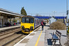2nd Apr 2016:  2E24 the 13.10 service from Weymouth to Westbury formed of SWT Hire In 158888 & GWR 150102 are departing from Castle Carey on a beautiful spring afternoon