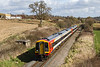 2nd Apr 2016:  The normal fare on the LSWR main line to Exeter is  Class 159 DMUs. Here 159001 leads on the 08.20 (1L17) from Waterloo to Exeter St Davids captured from the A37 road bridge on the outskirts of Yeovil
