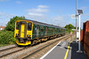 12th Aug 2016:  150232 isslowing for the stop at Diltom Marsh on 2C12 the 10.25 From Warminster it will then wait at Westbury and the form the 11.11 service to Southampton Central