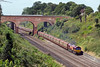 9th Aug 2016:  66125 with the Southampton to Halewood empty car carriers  from the Warren Road bridge