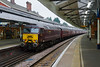 15th Dec 2016:  (In platform 4 at Salisbury WCR 57314  is on the rear if 1Z82 powered by the two Black 5s going to Yeovil.  The engine was running but there was no one o board
