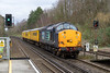 10th Feb 2016:  Dashing down the grade through Shawford is 37603 working 3Z04 from Hither Green to Eastleigh Arlington.  DBSO 9701 was at the rear