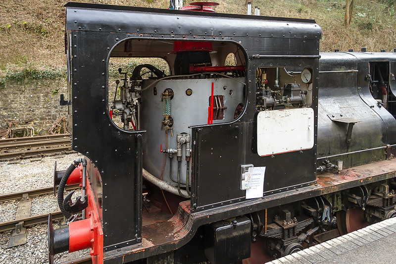 27th Feb 2016:  The Sentinel's boiler is situated in the cab with the Water Tank immediately in front