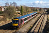 23rd Feb 2016:  Scooting through Undy is 170638 forming 1V05-08.12 Nottingham to Cardiff Cross Country service