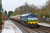 20th Feb 2016:  The 'Fifty Niner' tour started from Banbury and is heading for the Tor Works at Merehead.  30 yers ago Yeoman introduced the American Built Class 59 dieisels that effectively revolutionised the raiway freight industry of this country.  They are still regularly hauling 4500 tons between the quarry and London and have thus proved to be a very good buy indeed.   The location is Bradford on Avon.