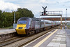 14th Feb 2016:  Making a change from a blue one is 43207 leading on the diverted Cross Country service 1V50 the 09.00 Leeds to Plymouth.  43357 was on the other end