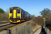 25th Feb 2016:  About to stop at Dilton Marsh is 150239.with the 10.08 from Westbury to Warminster.  A little later it will return to Westbury as the 10.30 from Warminster