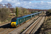 23rd Feb 2016:  In full sun the GWR Holley Green does not look too bad on 43188 as it heads 1B20 the 09.45 Paddington to Swansea through Undy