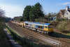 24th Feb 2016:  66744 'Crossrail' is this week's loco for 6M40 the Westbury to Stud Farm ballast empties.  The train is only travelling very slowly as it is about stop and wait the signal to take the siingle line to Chippenham  at Bradford Junction.