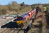 18th Feb 2016:  Caputured passing the site of Wapley Common Marshalling Yard is 66047 on the nose of 6Z47.  Starting from Wembley Eurofreight Ops Centre it is travelling to Cardiff Docks Ryans F.W.