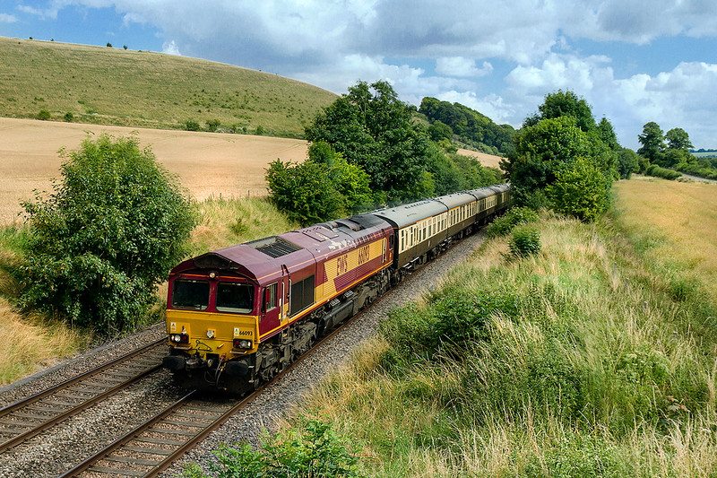 24th Jul 2016:  The ECS  for the next day's Torbay Express' runs through Norton Bavant as it travels from Eastleigh to Bristol Temple Meads