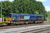 18th Jul 2016:  Still in the old DRS paint Scheme 66419 does a bit of shunting prior to taking 6C73 back to Fairwater Yard in Taunton