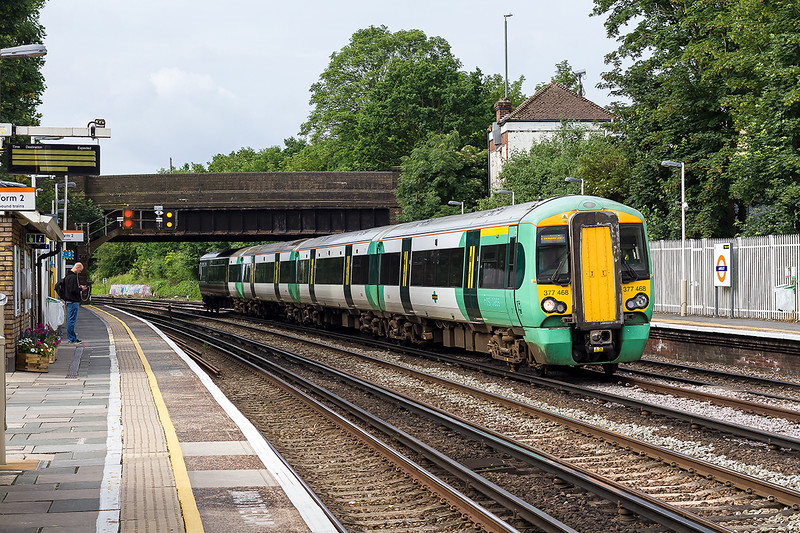 19th Jun 23016:  Pictured at Anerley is 377468 working 2B08 the 08.29 from Tonbridge to London Bridge