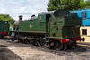 15th Jun 2016:  Resident on the Epping and Ongar Railway is GWR 2-6-2T 4141 which entered traffic in August 1946