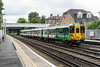 18th JUN 12016:  1G54 is the  11.19 fron Tattenham Corneer to London Bridge. Today in the hands if 455837 it is captured as its passes through Anerley