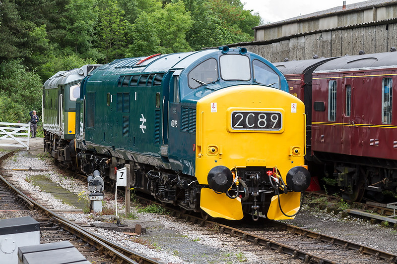 25th Jun 2016:  English Electric loco 6975 later numbered 76275 started life in April 1965 and lasted until 1999.  Seen here at it's current base of Buckfastleigh