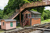 25th Jun 2016:  The beautifully reproduced Backfastleigh South Signal Box.  The originall Buckfastleigh signal box is to the same style and further north but is now disconneccted as all the track layout at that end was lost under the A38 rebuilding