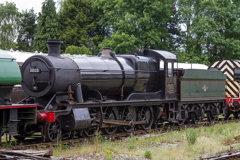 25th Jun 2016:  Collet 2-8-0 goods loco built in January 1939 looks in good condition but perhaps it needs some TLC i.e.  put the piston valves back.
