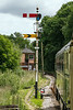 25th Jun 2016:  33002 waits in the new loop to the north od Staverton for the Signal Man in Bishops Bridge Signal Box to clear the line.  The wait is for the north bound train to clear the single line to Totnas
