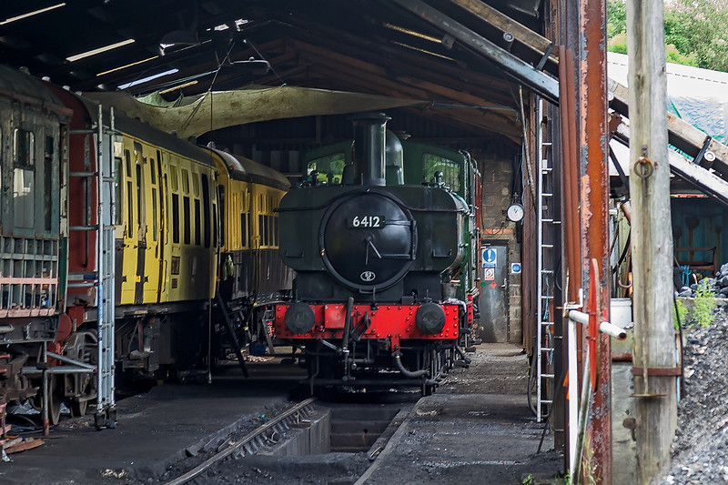 25th Jun 2016: In Buckfastleigh shed  64012 was out is use today unfortunately