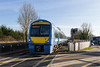 14th Mar 2016:  About to cross the A12 raod at Darsham is 170206 forming 2D54 the 15.17 Ipswich to |Lowestoft