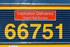 30th Mar 3016:  The name plate on 66751