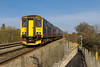 21st Mar 2016:  Despite what the blind states 150239 is actually going to Warminster.  About to stop at Dilton Marsh 2F94 started from Westbury at 10.08 and will only go to Warminster where it will reverse and return to  Westbury.  Note that the foot path has recently been resurfaced and that much extra fencing has been erected.