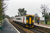 15th Mar 2016:  The uninspiring paint scheme on 165402 is not helped by the very dull weather as it arrives at Saxmundham.  2D87 left Lowestoft at 10.07 and will arrive at Ipswich at 11.36.