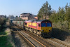 17th Mar 2016:  In beautiful afternoon light 66107 is pictured leaving Trowbridge in charge of 6C48 the 13.30 Appleford to Westbury stone empties