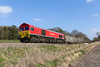 22ndMar 2016:  Captured at Norton Bavant is 59203 on the point of 6V16 from Fareham ARC Sidings to Westbury