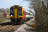22nd Mar 2016:  The new SWT Waterloo to Yeovil Pen Mill service is today on the hands of 159016.  Captured fron the foot crossing on the outskirts of Warminster