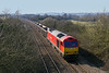 17th Mar 2016: For the second time this week 60039  'Dove Holes' was allowed out of the yard to work the Whatley to Exeter Riversie stone train..6C28 is the return empties service pictured as it runs through Fairwood.  Fortunately it was 90 minutes early which meant that the sun was  still in a usable position