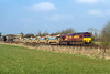 17th Mar 2016:  66167 at Fairwood bringing 6W60 from Totnes to Westbury.  The load was just the one set of Autoballasters.