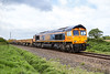 17th May 2016:  66750 works 6M40 from Westbury to Stud Farm through Broughton Gifford