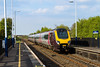 5th May 2016: Virgin Voyager 221136 powers south through Thurnscoe with 1V66 the 13.00 from Glasgow to Plymouth on a beautiful May afternoon
