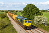 23rd May 2016:  Running 24 minutes early  is 66957 at thetail of the HOBC at Berkley Marsh.  6Y19 is running to Billingshurst from Fairwater Yard in Taunton