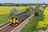 27th May 2016:  Passing through May flower alley is 150234 forming 2F94 the 10.03 from Westbury to Warminster pictured from Granada Bridge on the Warminster Bye pass