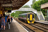 28th May 2016: 158950 arrives at Warminster when working 1F05 the 08.22 from Bristol Temple Meads to Portsmouth Harbour