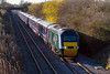 28th Nov 2016:  Now brandishing it's Welsh emblem 43187 is captured  from the bridge on Lambourne Lane in Edington as it works 1A83 the 10.00 from Penzance tp Paddington