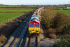 25th Nov 2016:  59201 is heading to Whatley Quarry from Theale with stoone empties.  ictured from the Pot Lane bridge in Berkley