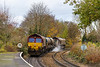 18th Nov 2016:  3J13 gets the green as it leaves Warminster in the hands of 66238 & 66160