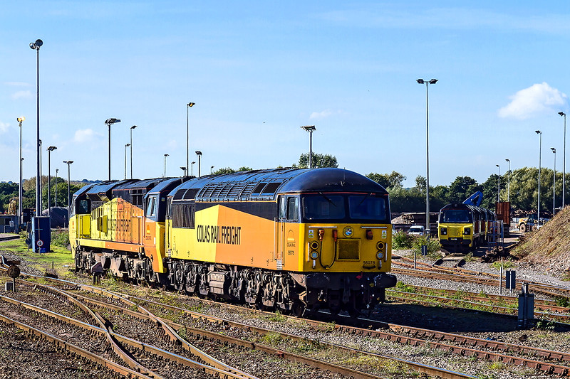 3rd Oct 2016:  Colas fest at rest at Westbury.  Including 58078, 70805, 70809 and several others