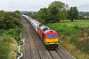 7the Oct 2016:  Pictured from the Brights Farm Road bridge near Dauntsey is  60091 powering 6B12 from Merehead to Wootton Bassett up the Dauntsey Bank.  Trees on the left are preventing a much wider shot but as yet there is no height extension to the bridge