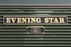 14th Sep 2016:  The Name plate  on 66779 that was built in December 2015 in Muncie Indana. The last class 66 to be built and is painted in Brunswick Green ands named 'Evening Star' as was the last British Railways steam locomotive that was built 92220 Evening Star