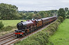 17th Sep 2016:  1Z82 is running 24 minutes late as it coasts down the grade through Great Cheverell.  46201 'Princess Elizabeth started from Victoria and is making for Exeter St Davids.  Later in the afternoon the Cathedrals Express,  still  with the LMS Pacific on the point, will continue to Penzance