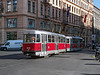 8th Sep 2016:  Tram 8578 on the rear of a Service 6 leaving Wenceslas Square.
