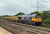29th Sep 2016:  Another one from my list, a picture of 66760.  Captured here as it leaves the sidings at Westbury on it's working, 6M40, to Stud Farm in Leicestershire  for a refill of ballast