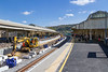 19th Apr 2017:  Bath pa being altered to create longer, higher and less curved platforms to be ready for the new IEP trains