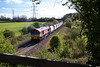 12th Apr 2017:  59205 accelerating away from Clink Road Junction with 6A97 from Merehead to Colnbrook.  It had been held up for the Wellingborough to leave the Whatley Branch
